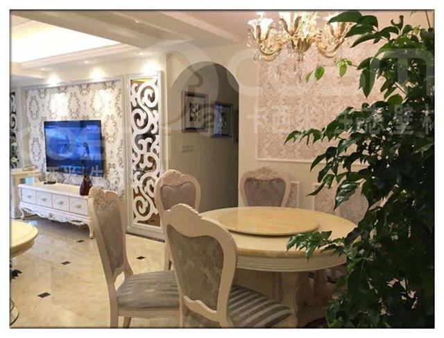 卡西米印花欧式硅藻泥卧室